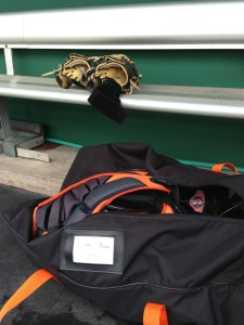 Hector Sanchez Catching Gear - Credit: Steven Robles - SF Giants Rumors
