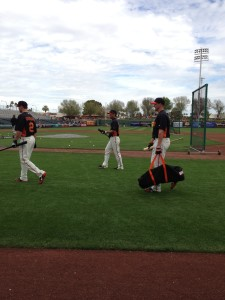 Spring Training BP 2013 - Credit: Steven Robles - SF Giants Rumors