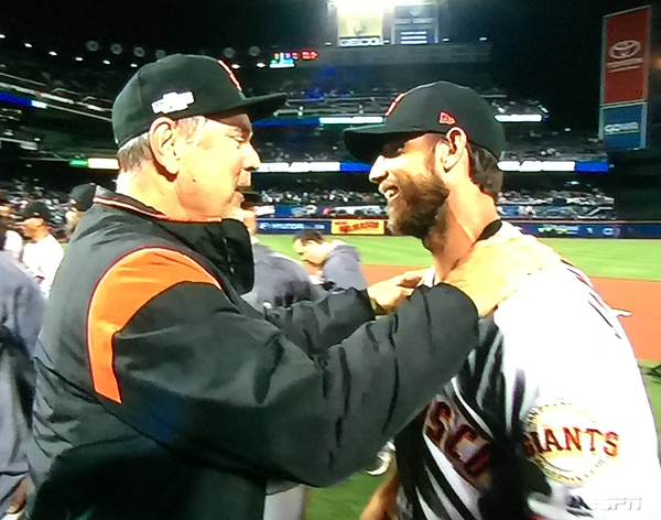 Bruce Bochy, Madison Bumgarner - Giants