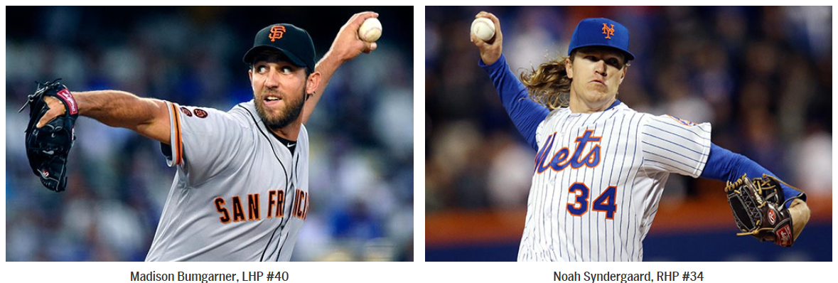 Giants Madison Bumgarner vs. Mets Noah Syndergaard