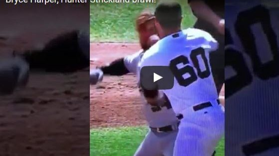 Bryce Harper, Hunter Strickland Brawl!