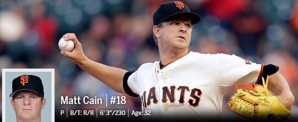 Matt Cain - San Francisco Giants